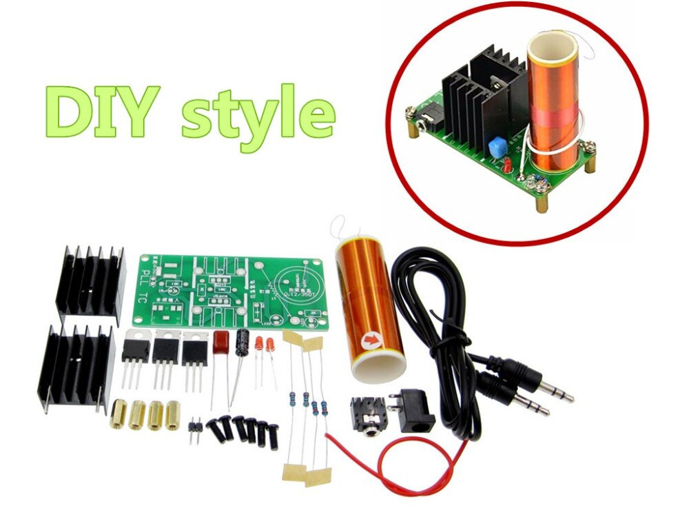 Dikavs DIY Mini Music Tesla Coil Kit  10set kit DIY Mini Tesla Coil Kit 15W Mini Music Tesla