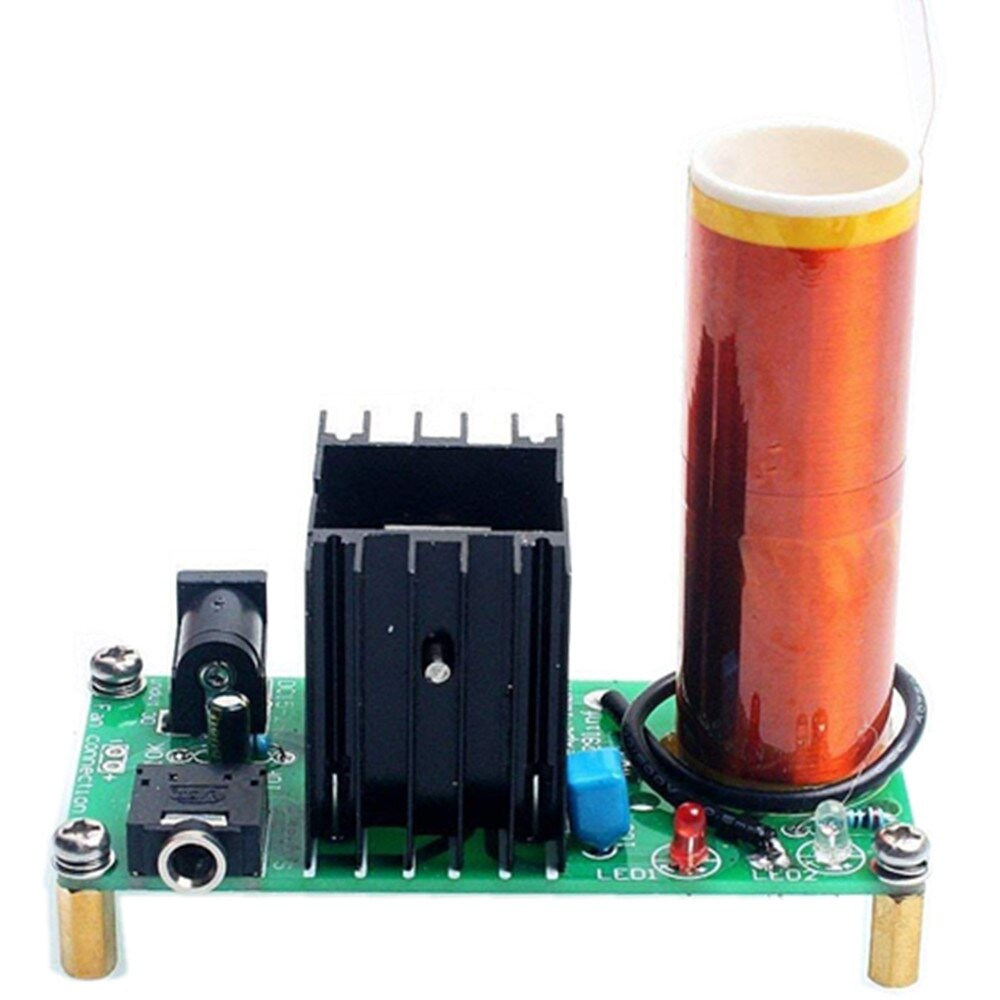 Dikavs DIY Mini Music Tesla Coil Kit  DIY Mini Tesla Coil Kit 15W Mini Music Tesla Coil Plasma