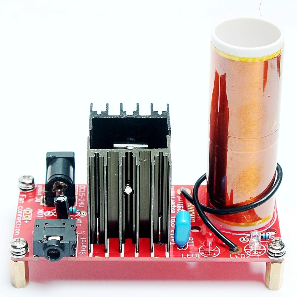 Dikavs DIY Mini Music Tesla Coil Kit  DIY Mini Tesla Coil Kit Music Tesla Coil Wireless
