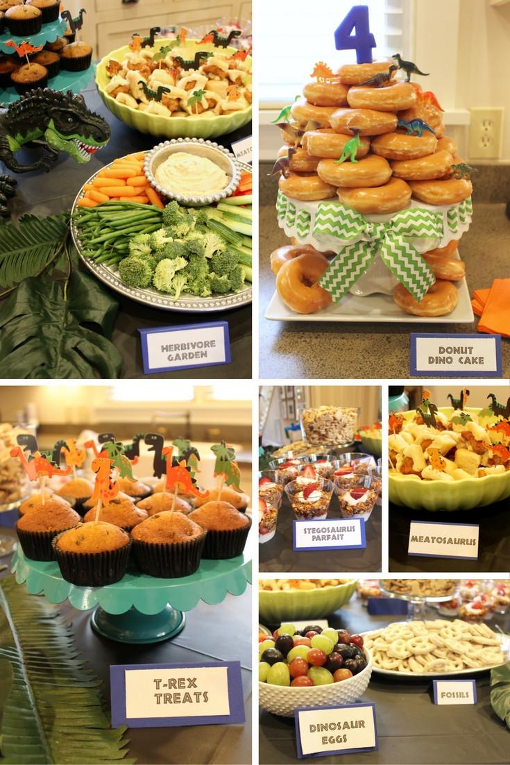 Dinosaur Food Ideas For Birthday Party  Dinosaur 4th Birthday Party SevenLayerCharlotte