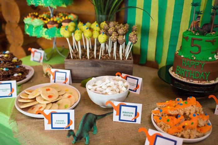 Dinosaur Food Ideas For Birthday Party  Kara s Party Ideas Dinosaur 5th Birthday Party