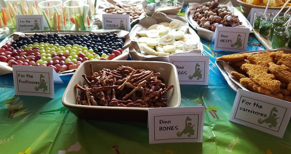 Dinosaur Food Ideas For Birthday Party  dinosaur party food table