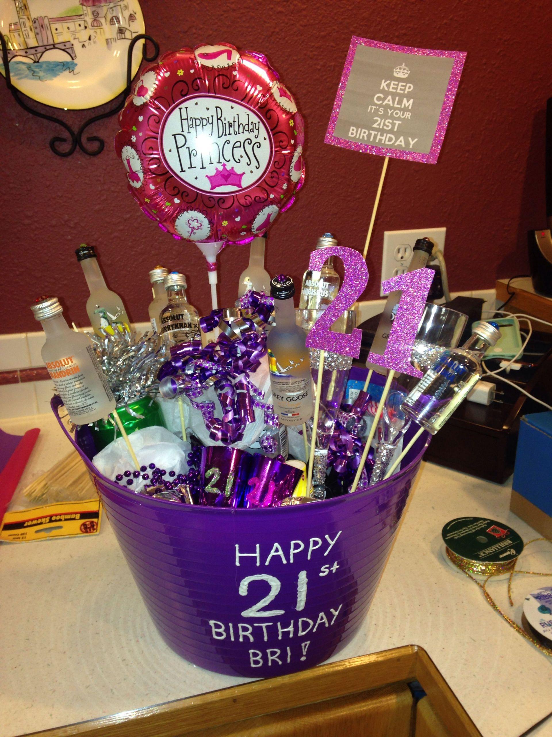 DIY 21St Birthday Gifts  DIY 21st birthday bucket •••My Creations•••