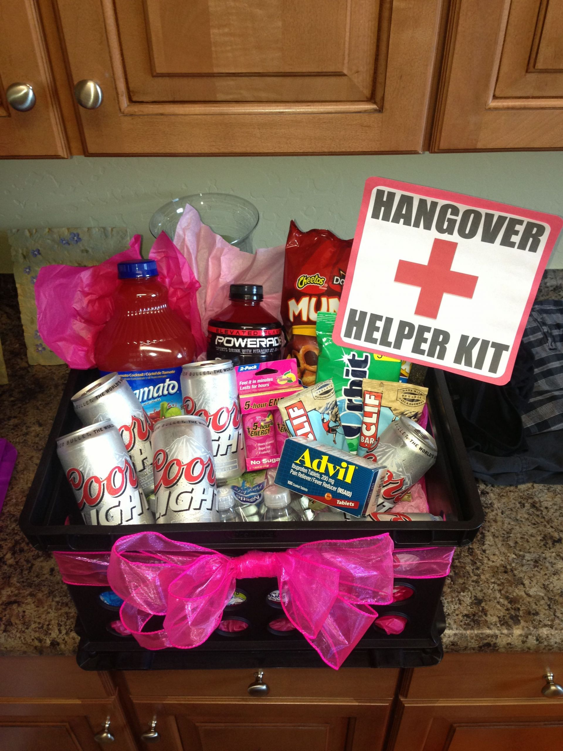 DIY 21St Birthday Gifts  21st Birthday Hangover Recovery Kit