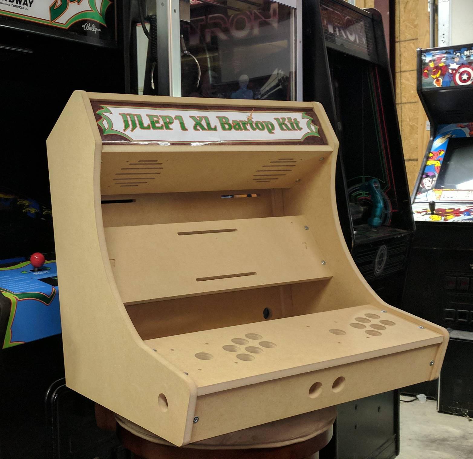 DIY Arcade Cabinet Kits  2 Player XL bartop tabletop arcade cabinet DIY kit w