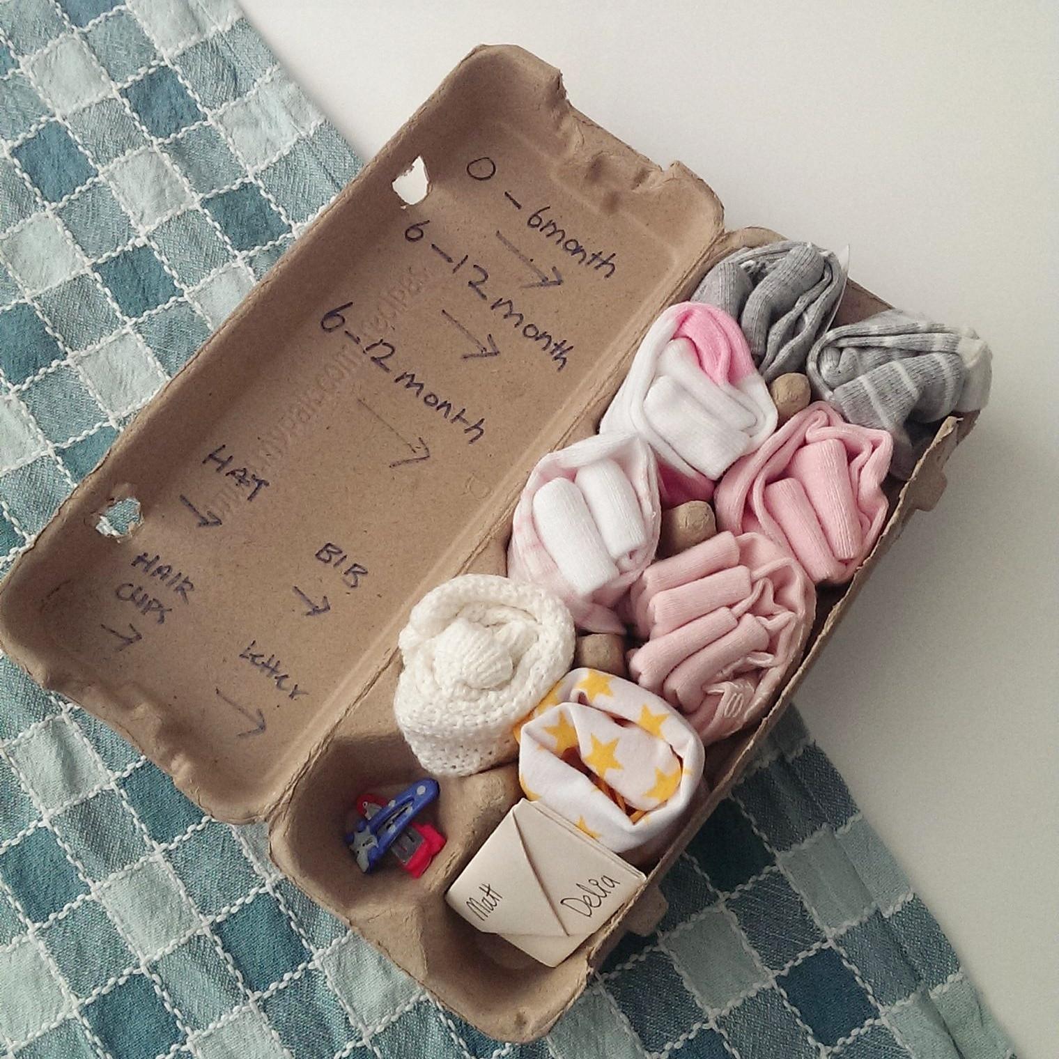 DIY Baby Gift Ideas  D I Y Up Cycling Egg Carton Gift baby shower – Choyful
