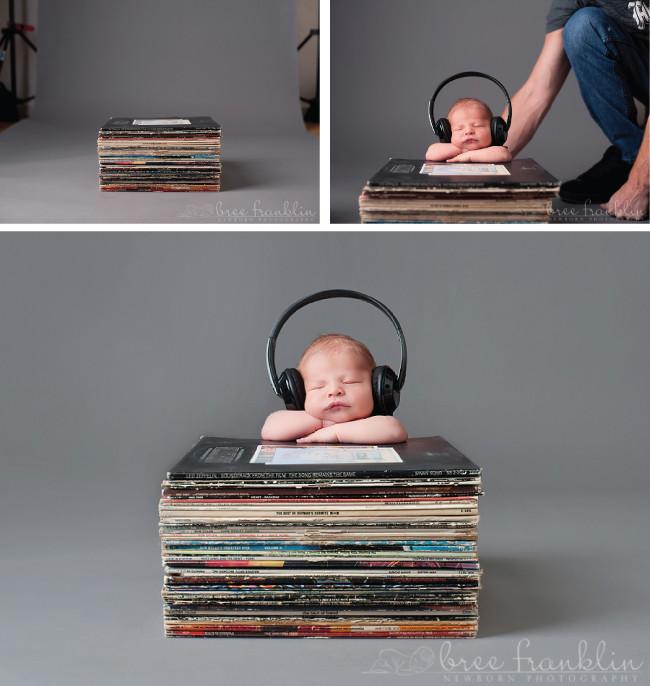 Diy Baby Photo Props  dj newborn photo prop