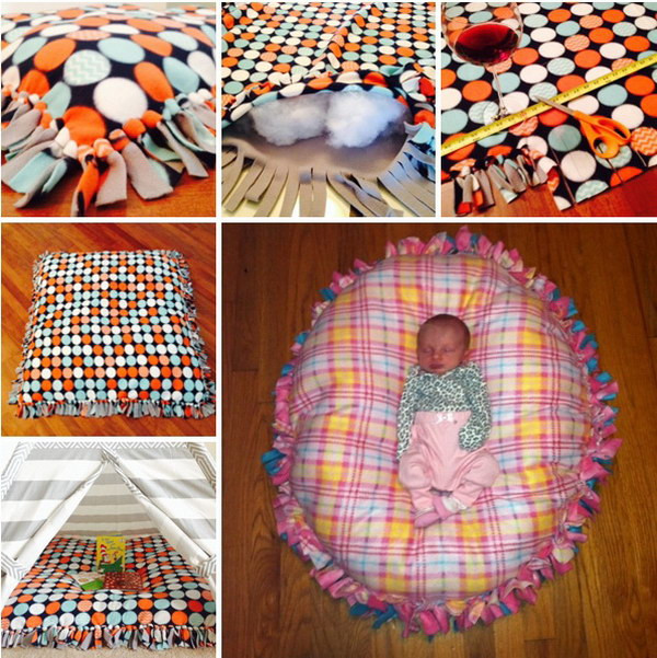 DIY Baby Pillows  60 Simple & Cute Things Gifts You Can DIY For A Baby