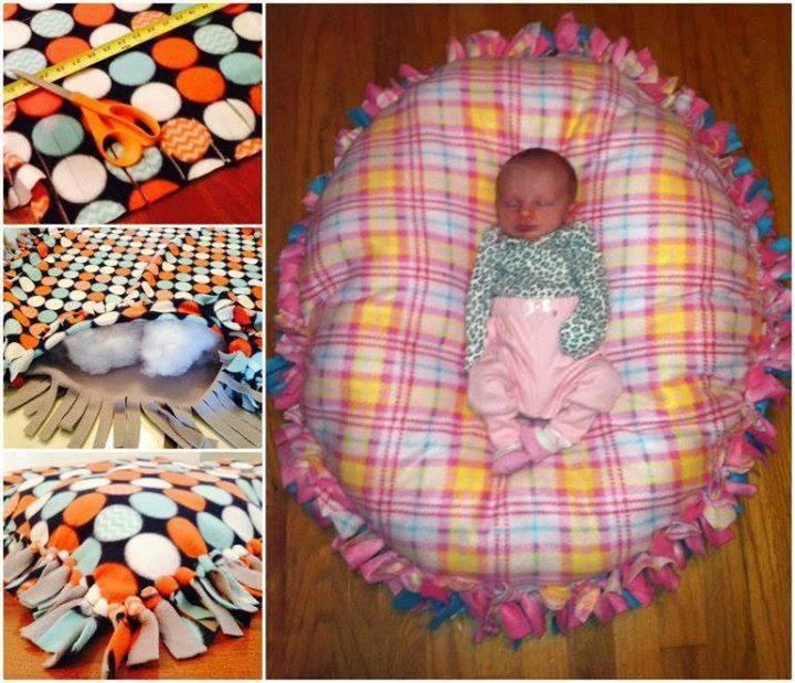 DIY Baby Pillows  DIY NO SEW FLOOR PILLOW Maria s Mixing Bowl