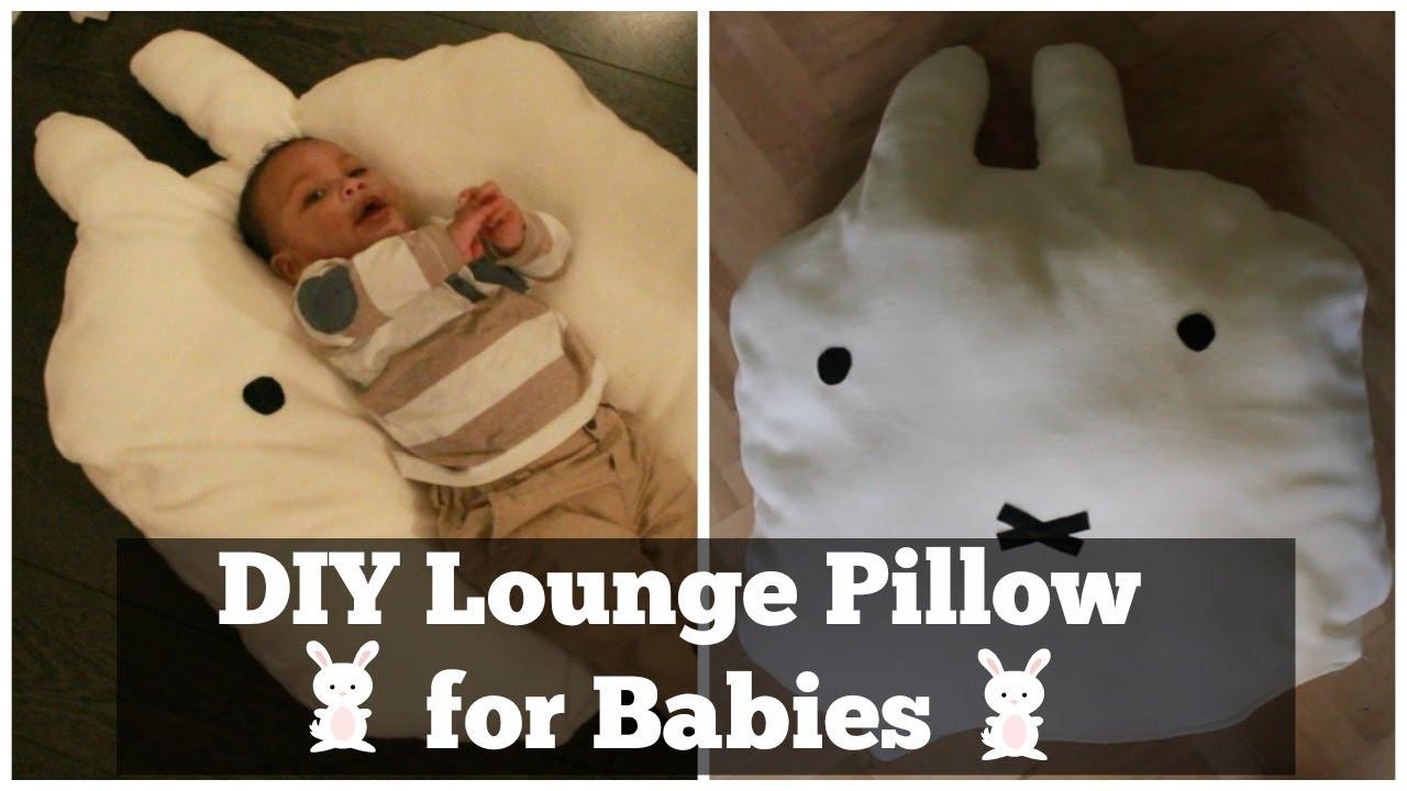 DIY Baby Pillows  How To Make a Lounge Pillow For Babies DIY Nijntje aka
