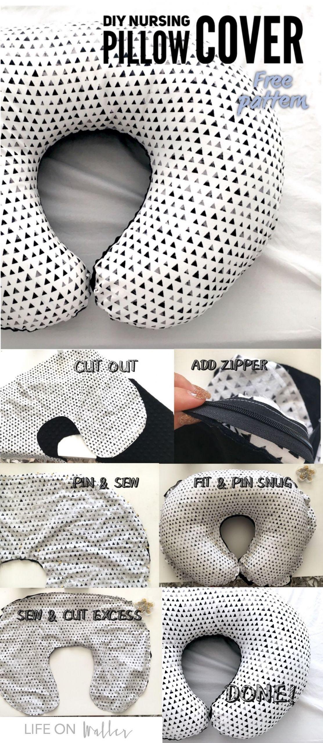 DIY Baby Pillows  DIY Nursing Pillow Cover