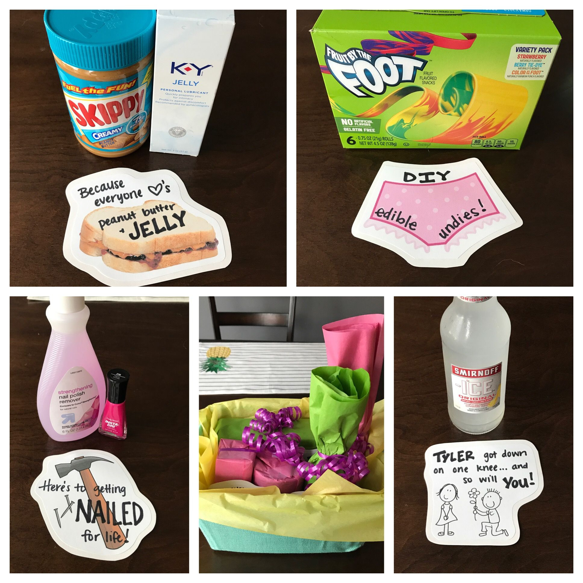 DIY Bachelorette Gift For Bride  Bachelorette Party Gift Semi naughty punny DIY Gift