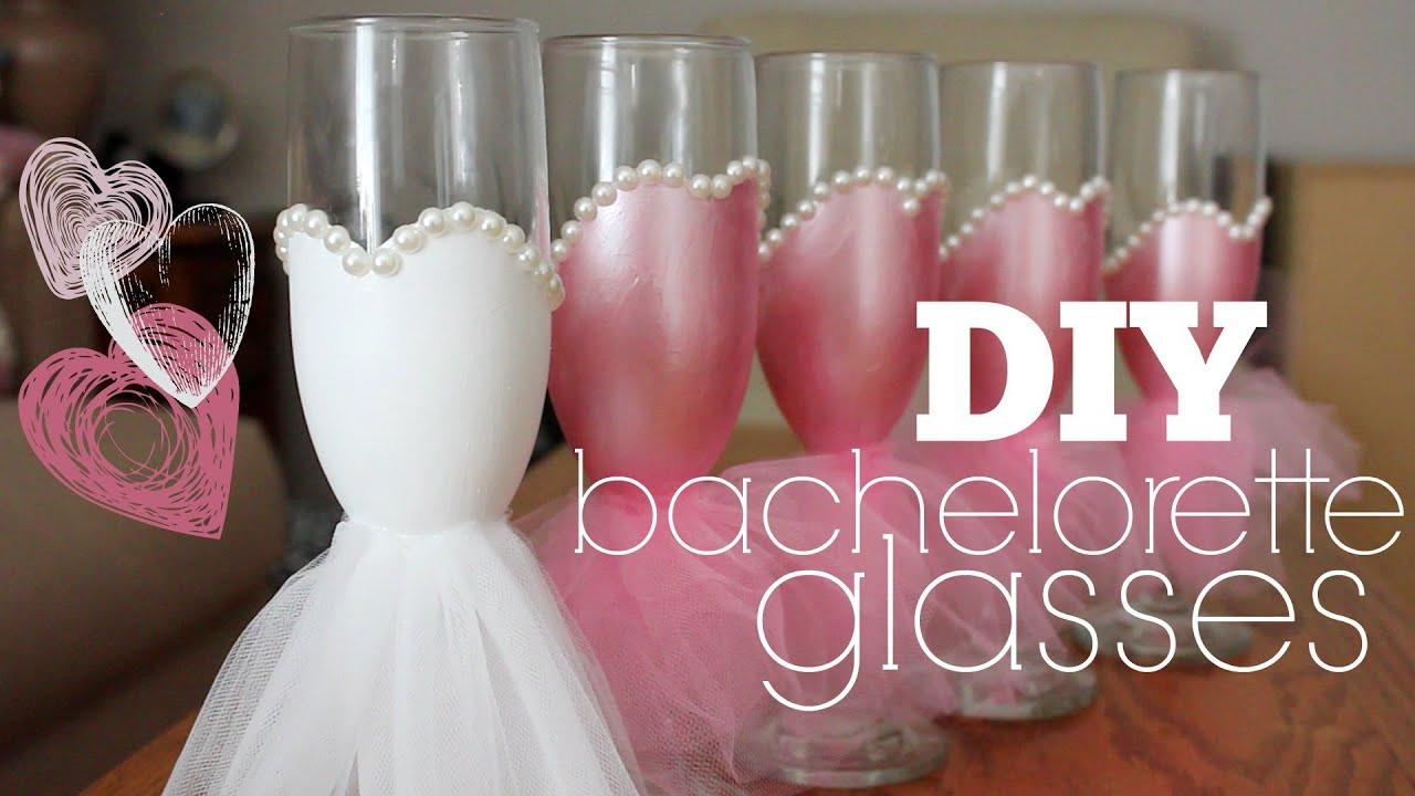 DIY Bachelorette Gift For Bride  DIY Bachelorette Glasses