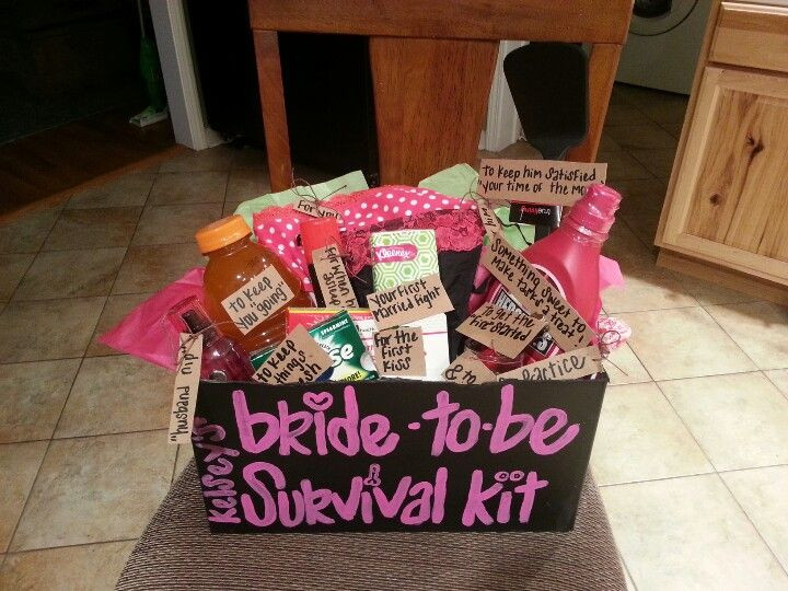 DIY Bachelorette Gift For Bride  For my friends bachelorette party I made her a bride to be