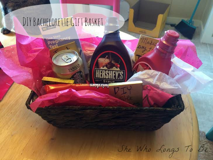 DIY Bachelorette Gift For Bride  She Who Longs To Be DIY Bachelorette Gift Basket Gift