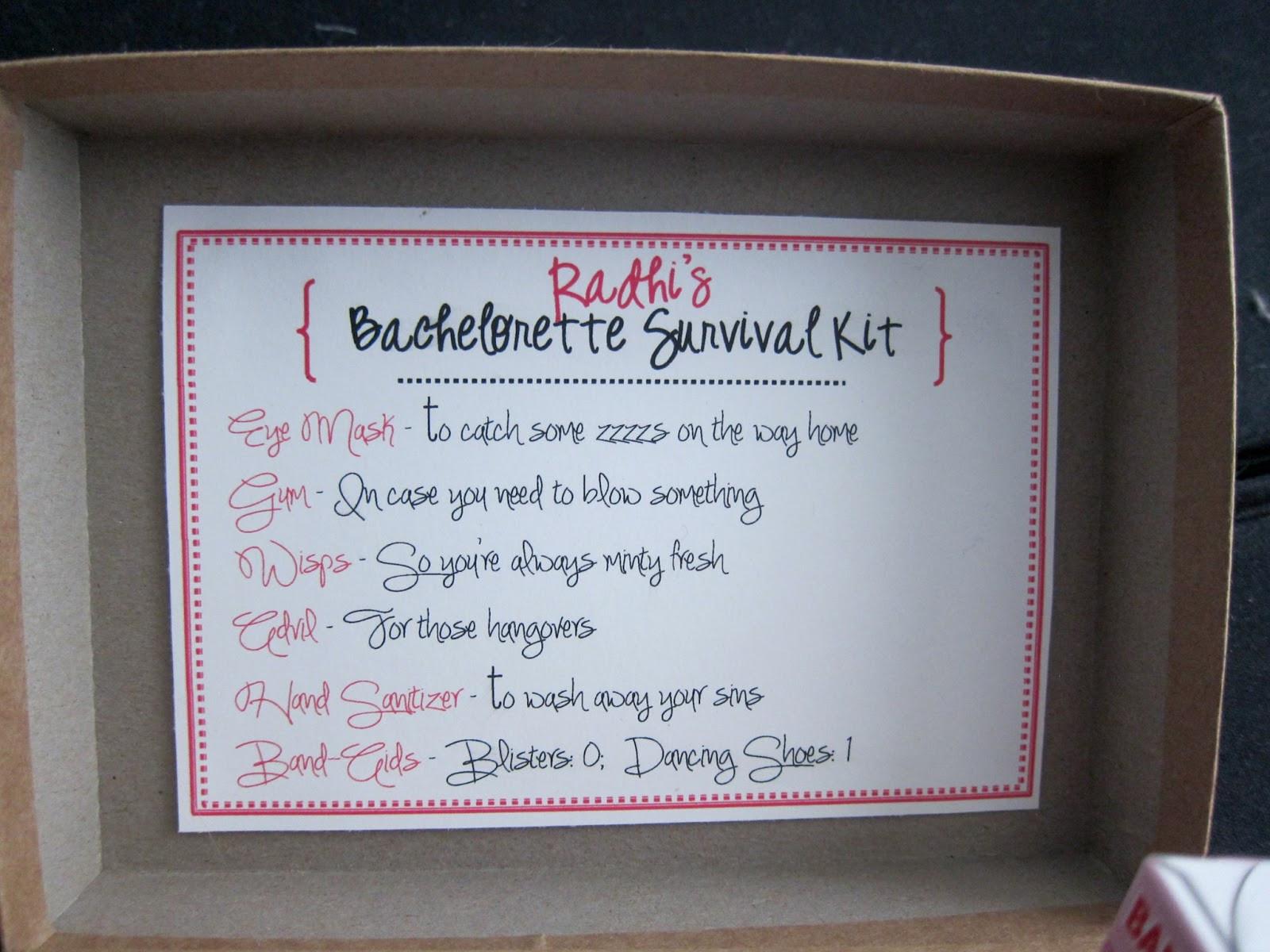 DIY Bachelorette Gift For Bride  rnlMusings Gifting Survival Kits for the Bachelorette