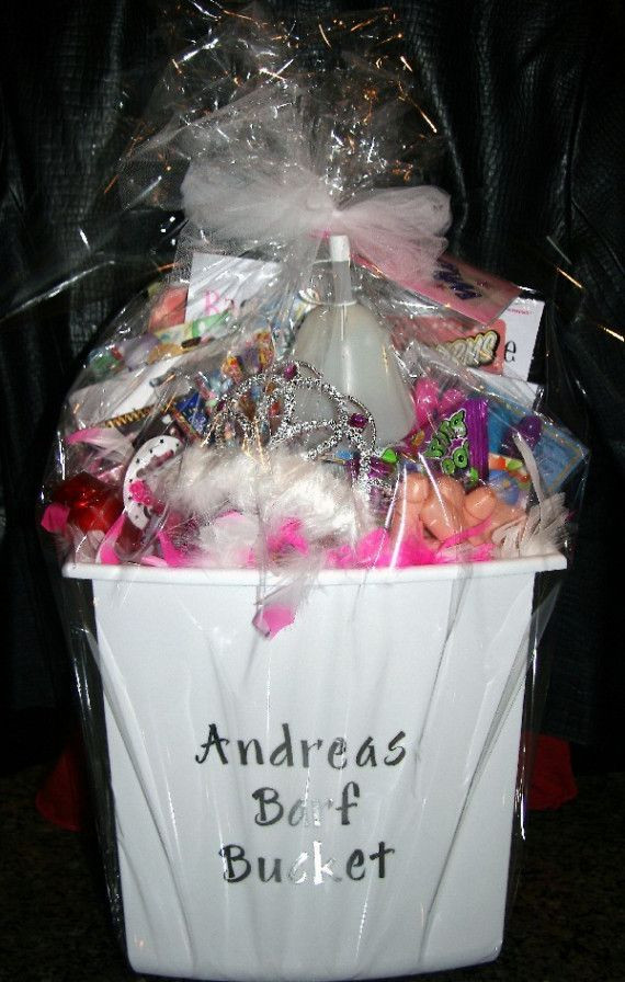"""DIY Bachelorette Gift For Bride  Idea for bach party t """"Bride to be s barf bucket"""