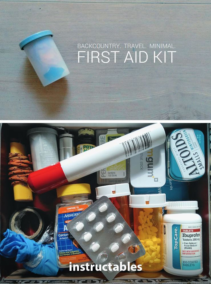 DIY Backpacking First Aid Kit  Backcountry First Aid Kit