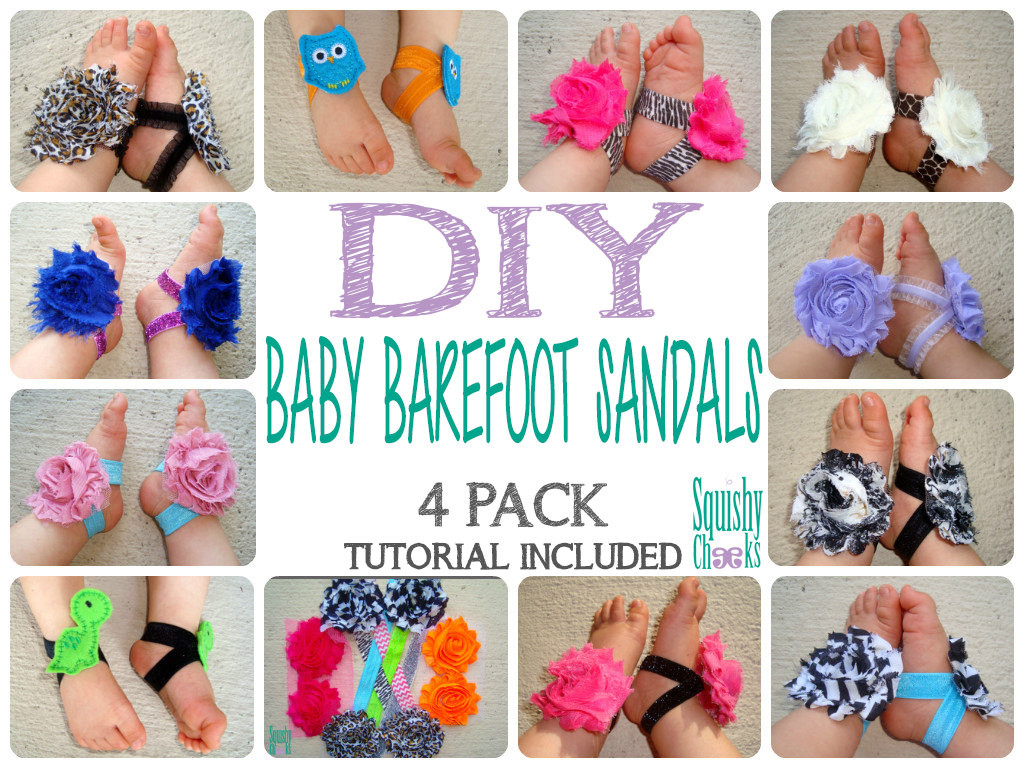 DIY Barefoot Sandals Baby  DIY Baby Barefoot Sandal Kit Make your own by