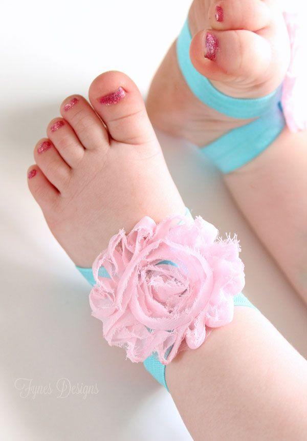 DIY Barefoot Sandals Baby  DIY Barefoot Baby Sandals line Ribbon