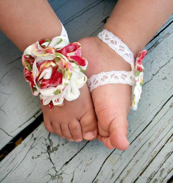 DIY Barefoot Sandals Baby  Baby Barefoot Sandals by LovelyLiliesBoutique $6 50