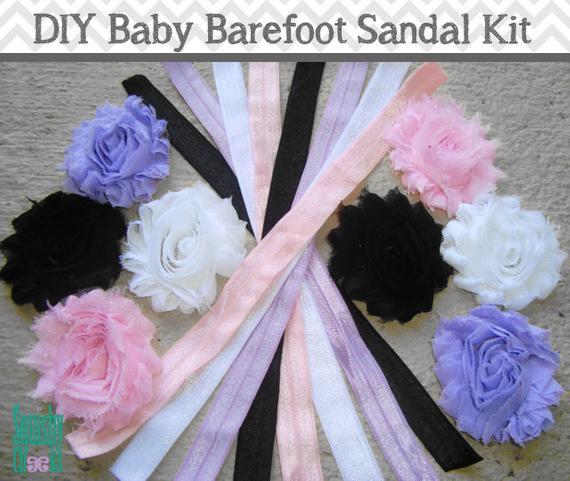 DIY Barefoot Sandals Baby  Items similar to DIY Baby Barefoot Sandal Kit Make your