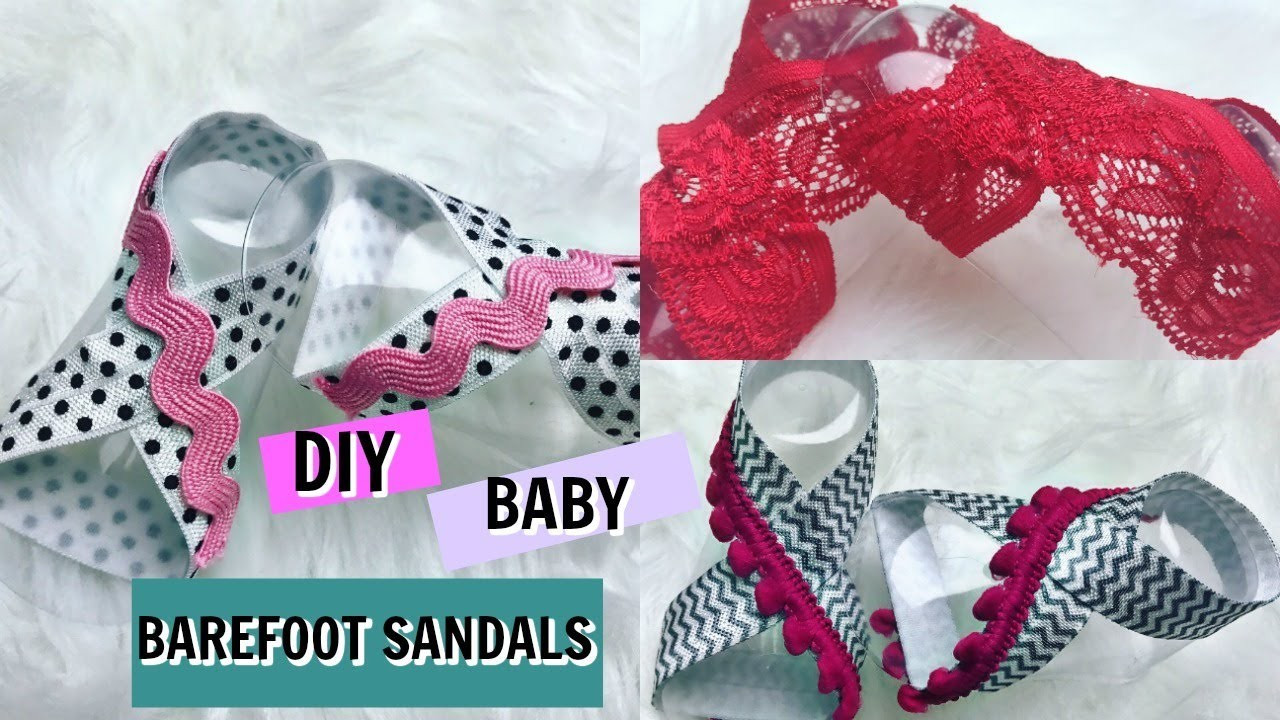 DIY Barefoot Sandals Baby  DIY NO SEW BABY BAREFOOT SANDALS TUTORIAL