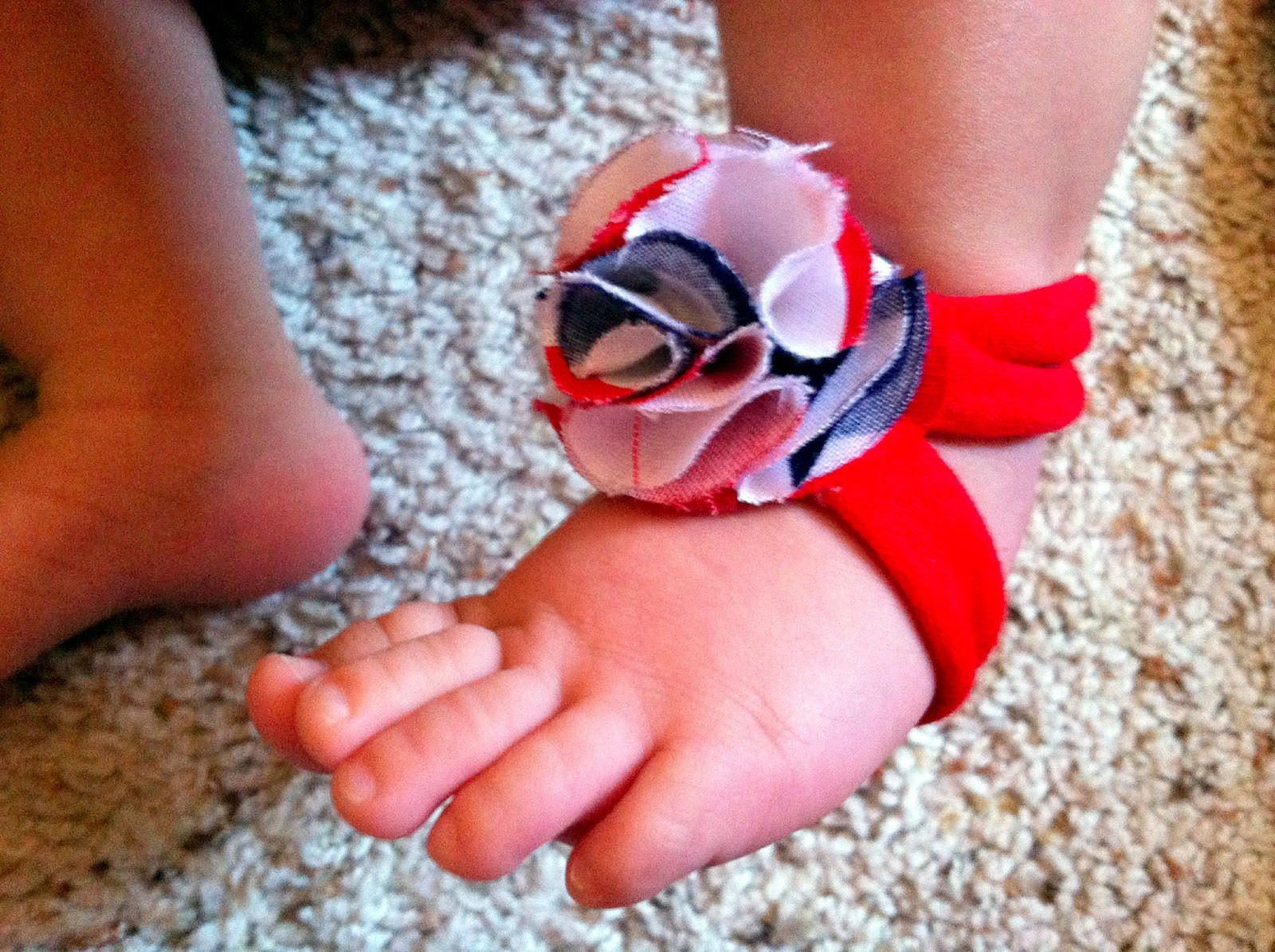 DIY Barefoot Sandals Baby  ting crafty DIY Baby Barefoot Sandals Tutorial 10
