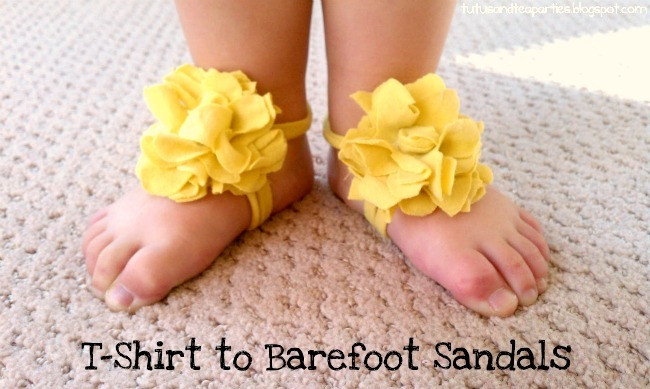 DIY Barefoot Sandals Baby  25 Adorable & Easy to Make Baby Accessories
