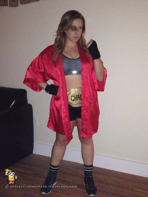 DIY Boxer Costume  Knockout Woman's Boxer Costume