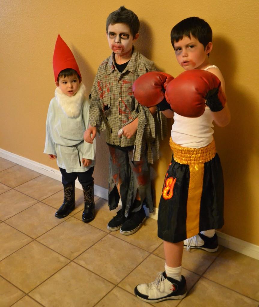DIY Boxer Costume  Gnome Zombie Boxer Homemade Halloween Costumes Vs Store