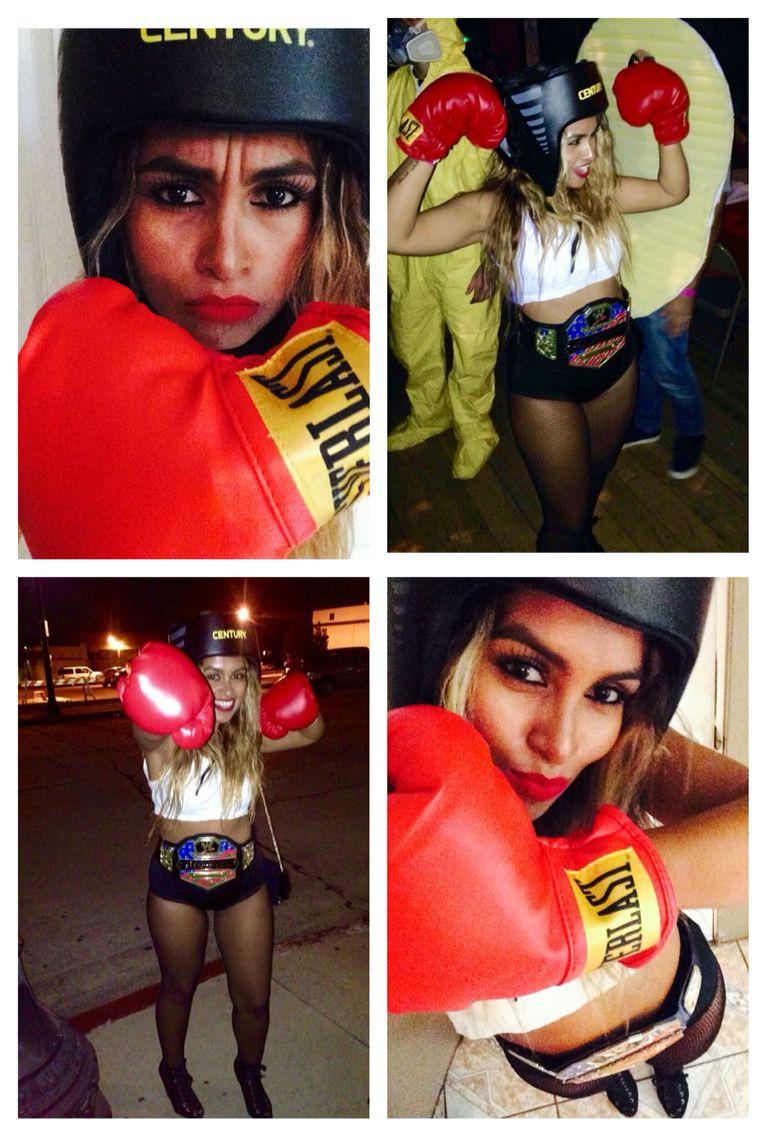 DIY Boxer Costume  Boxing girl Halloween costume DIY Boxer