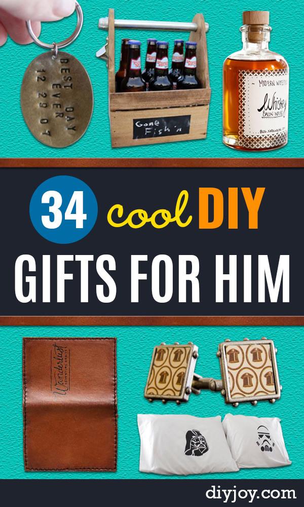 DIY Boyfriend Birthday Gifts  34 DIY Gifts for Him Handmade Gift Ideas for Guys