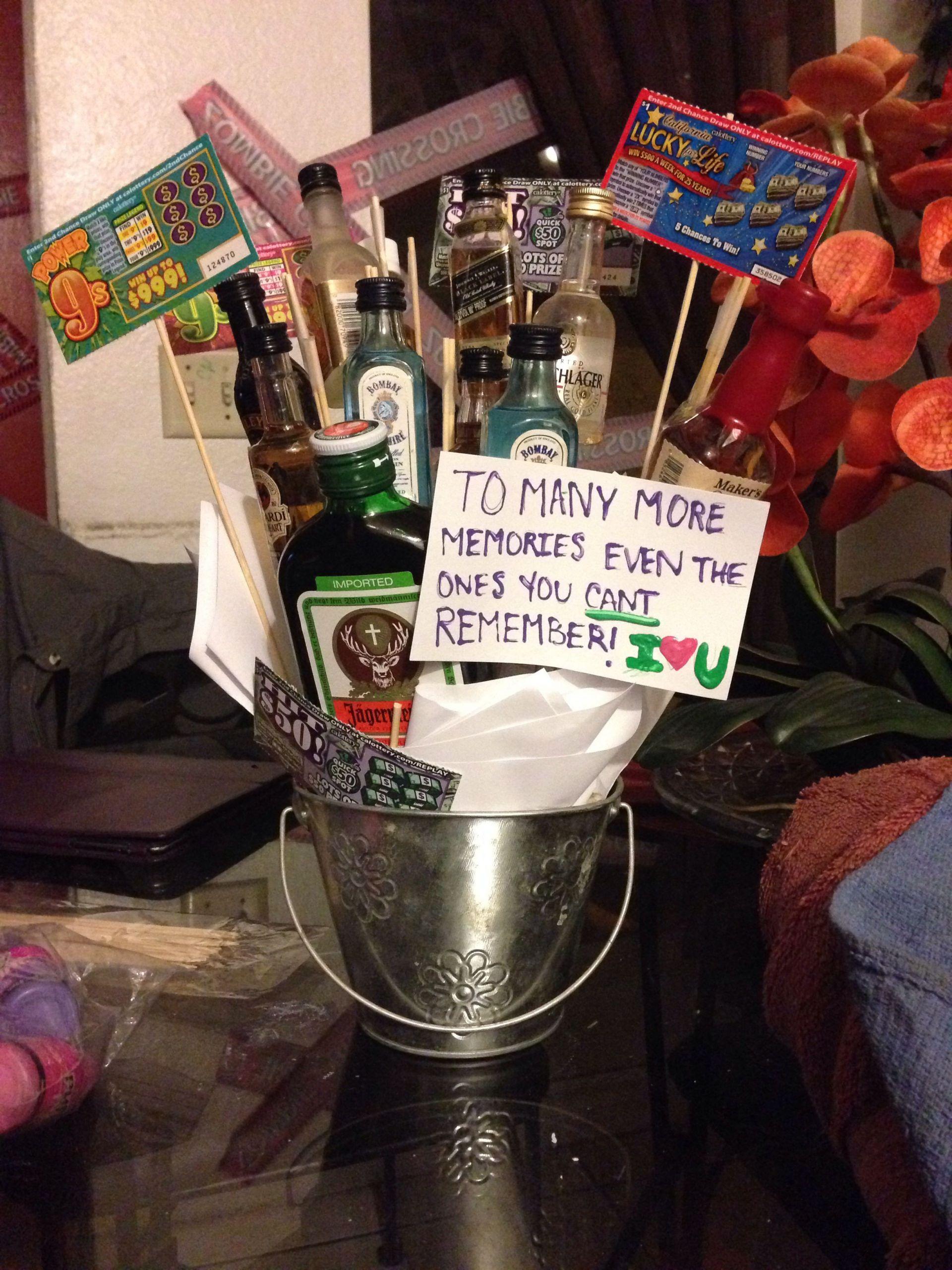 DIY Boyfriend Birthday Gifts  Anniversary t for the boyfriend Alcohol DIY