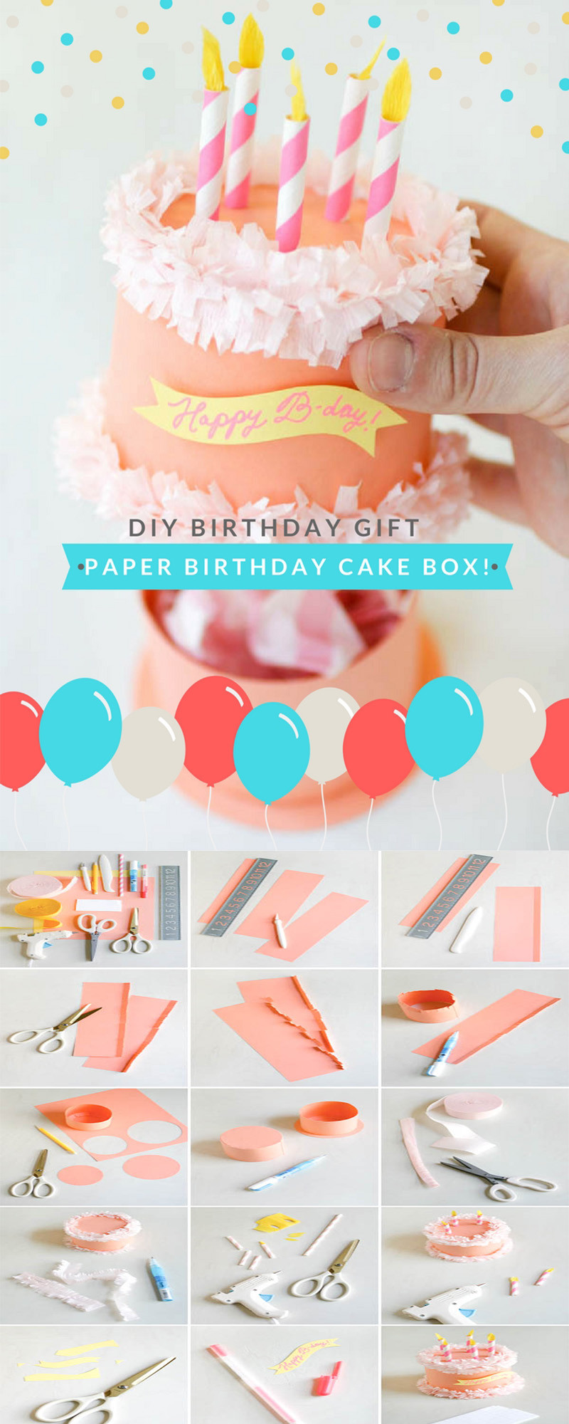 DIY Boyfriend Birthday Gifts  DIY Gift Ideas for Your Boyfriend Paper Birthday Cake Box