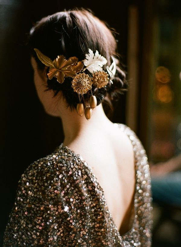DIY Bridal Hair  DIY Gold Wedding Hair Accessories ce Wed