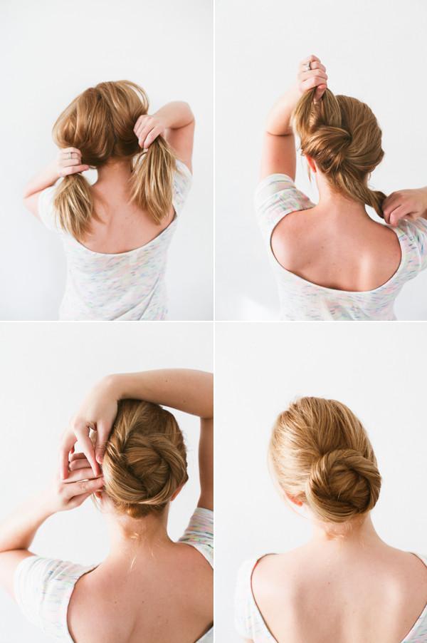 DIY Bridal Hair  DIY Twisted Bun Hair Tutorial