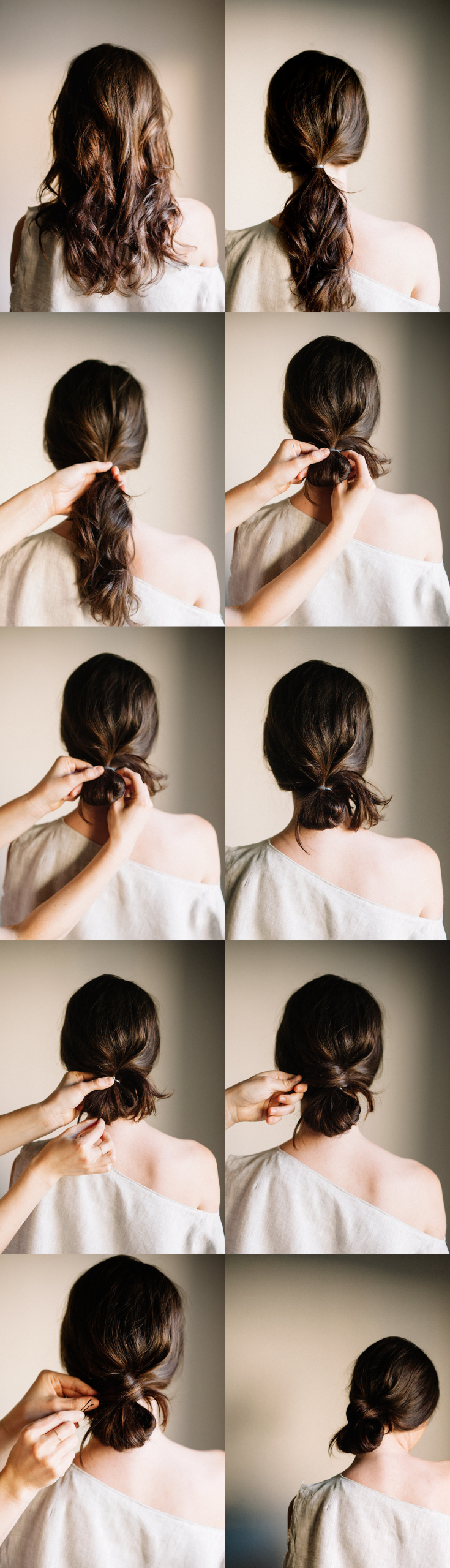 DIY Bridal Hair  DIY Low Knot DIY Wedding Ideas