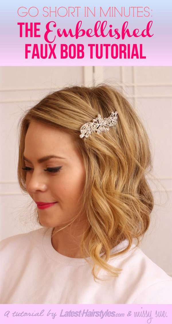 DIY Bridal Hair  10 Beautiful DIY Hairstyles to Wear to a Wedding Page 9