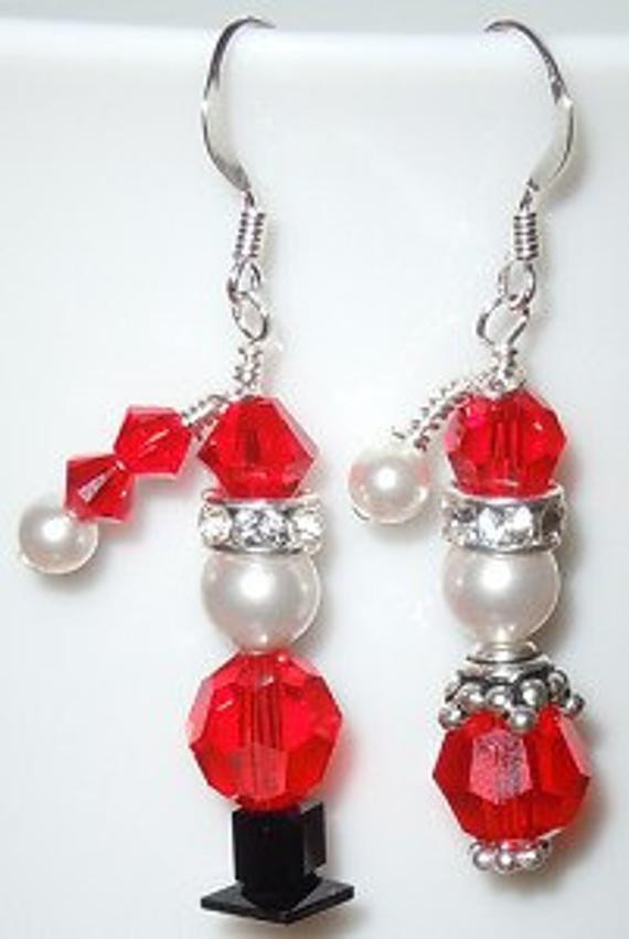 DIY Christmas Jewelry  Santa & Mrs Claus Christmas Earrings Set Made by