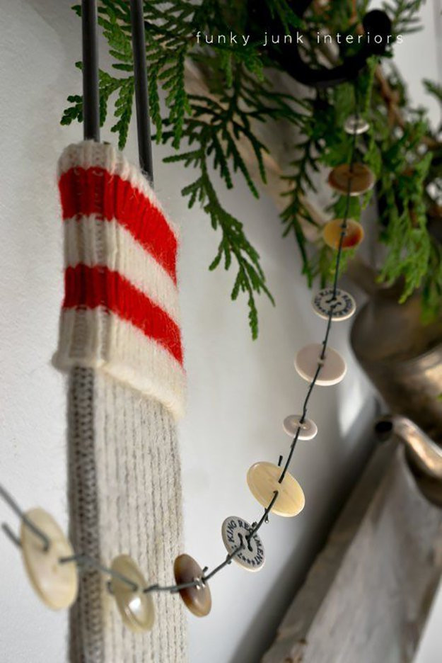 DIY Christmas Tree Garland  21 Easy To Make Christmas Decorations Ideas
