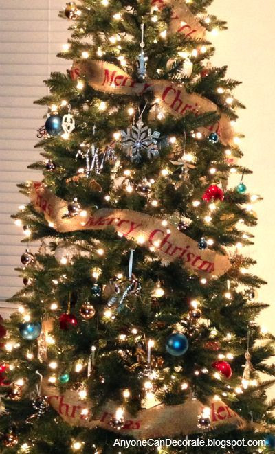 DIY Christmas Tree Garland  DIY Burlap Christmas Tree Garland