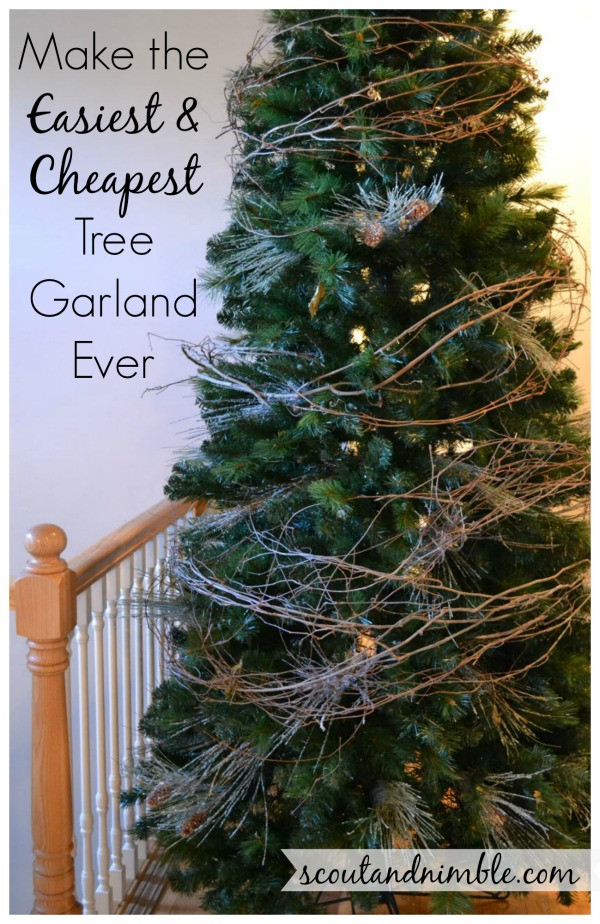 DIY Christmas Tree Garland  Christmas Tree Decorating HolidayHome DIY Tree Garland