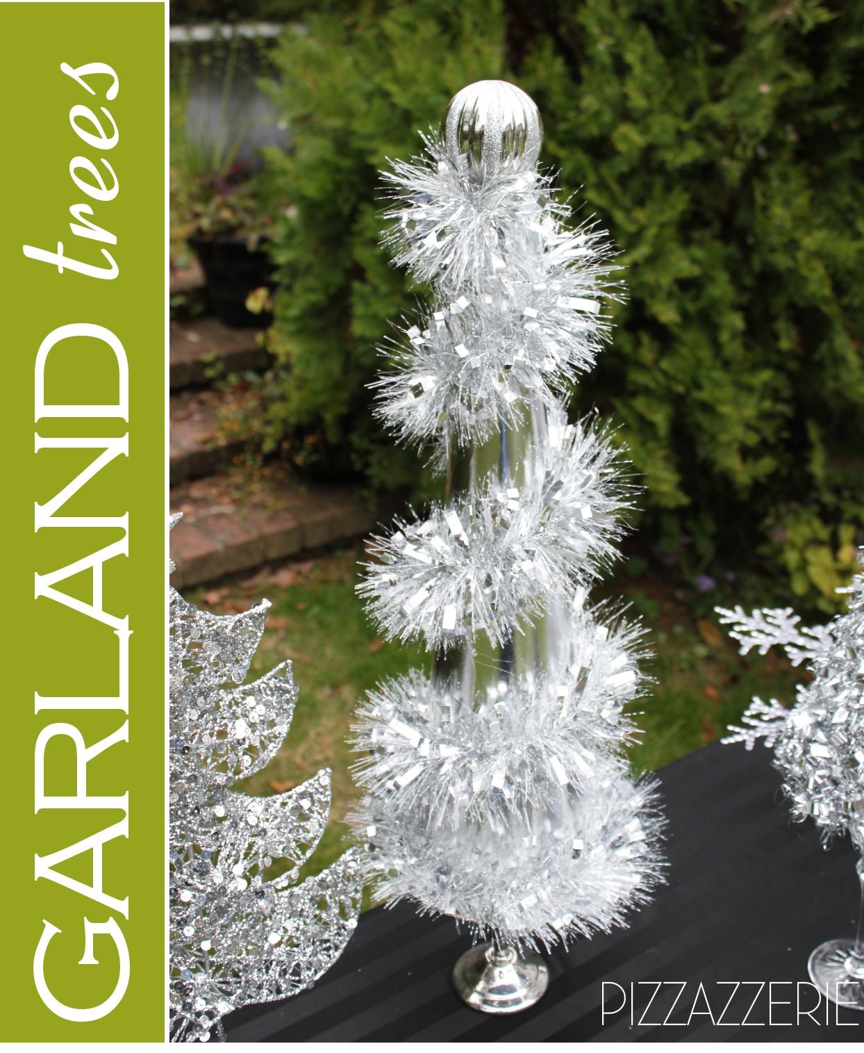 DIY Christmas Tree Garland  Black & White Snowman Holiday Table & DIY Garland Trees