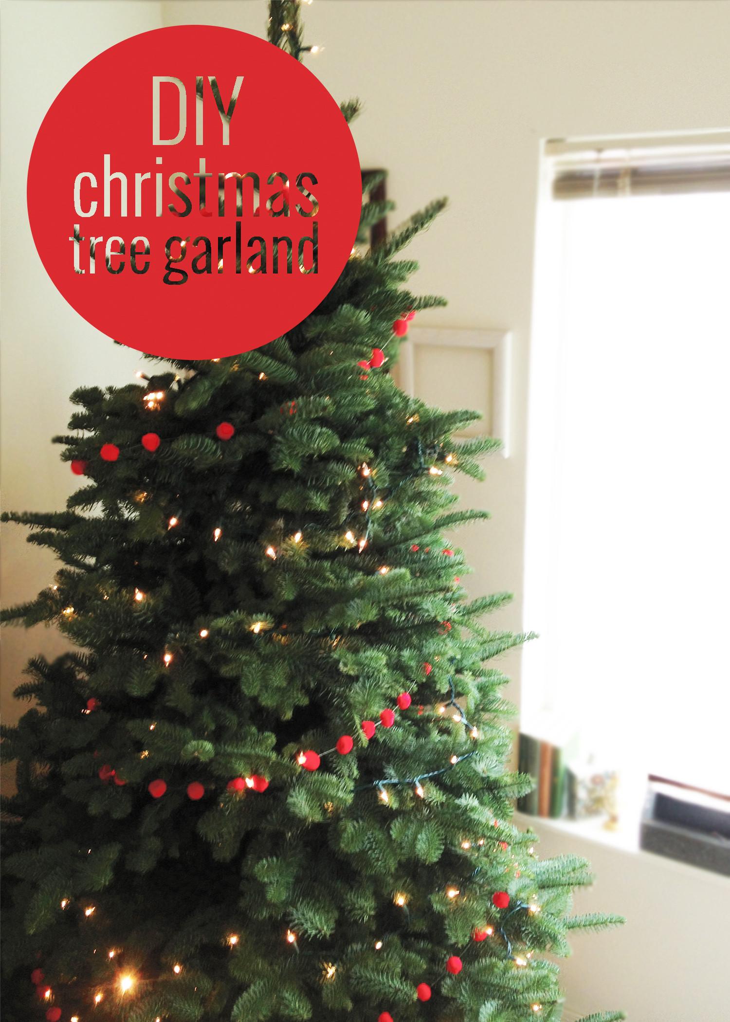 DIY Christmas Tree Garland  DIY Christmas Tree Garland
