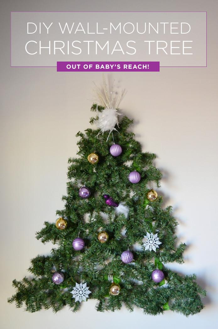 DIY Christmas Tree Garland  Have a Baby Put a DIY Christmas Tree on the Wall