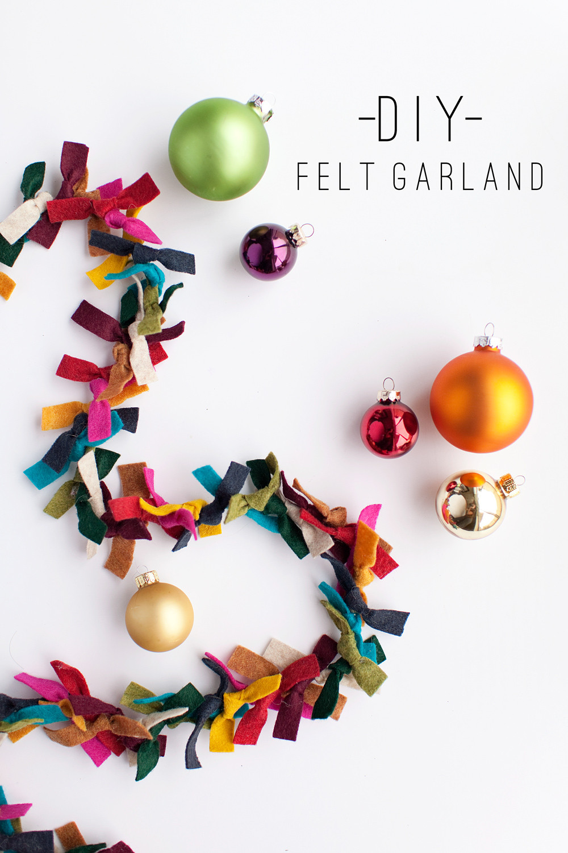DIY Christmas Tree Garland  TELL FELT GARLAND Tell Love and Party