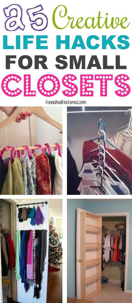 DIY Closet Organizing Ideas  25 Creative Life Hacks For Small Closets