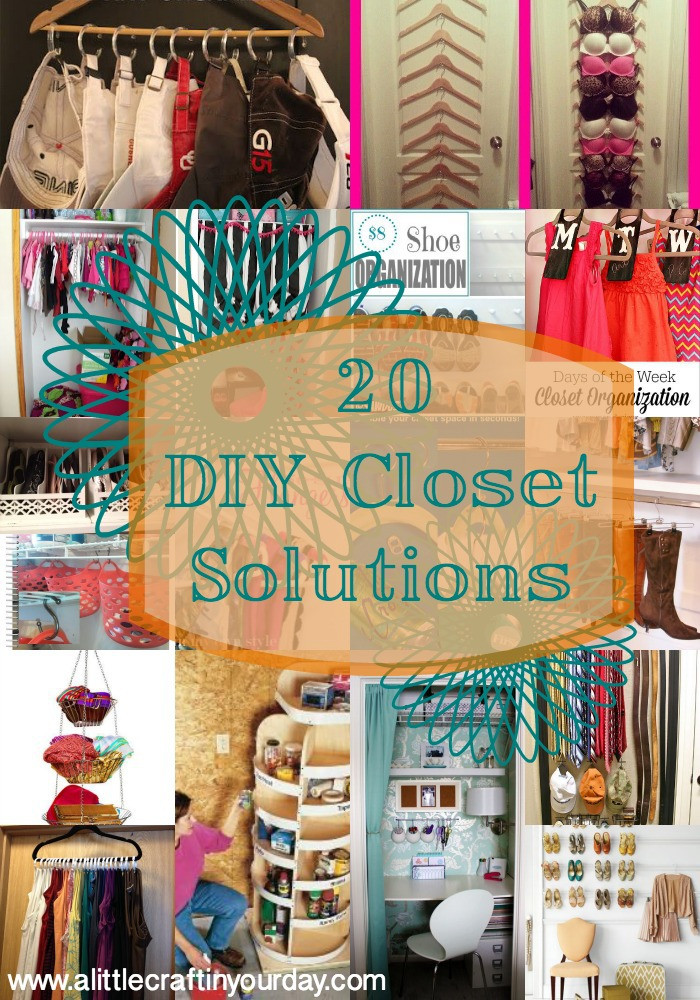 DIY Closet Organizing Ideas  20 DIY Closet Solutions A Little Craft In Your Day