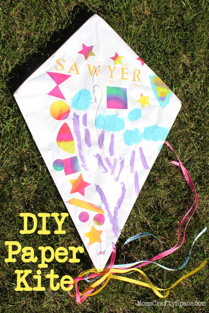 DIY Craft For Toddlers  Kids Craft DIY Paper Kite Happiness is Homemade